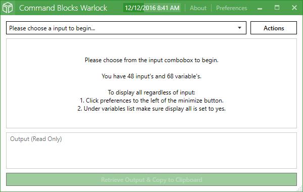 Command Blocks Warlock