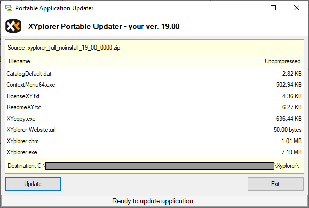 Portable Application Updater Example